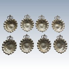 Set/8 GORHAM DURGIN Sterling Silver Nut Dishes with Place Card Holder