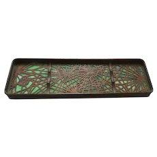 Tiffany Studios Bronze PINE NEEDLE Pen Tray #1004