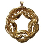 14 Karat Gold PENDANT, Custom Made, 44 Grams