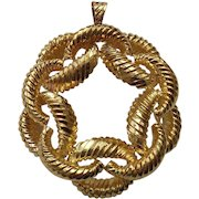 14 Karat Gold PENDANT, Custom Made, 44 Grams