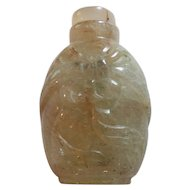 Vintage Chinese Quartz Stone Snuff Bottle