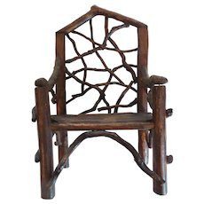 Doll's Country Primitive TWIG Chair (#1)