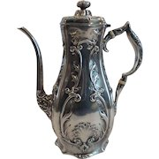 19th C. WHITING Sterling Silver Demitasee Pot #8255
