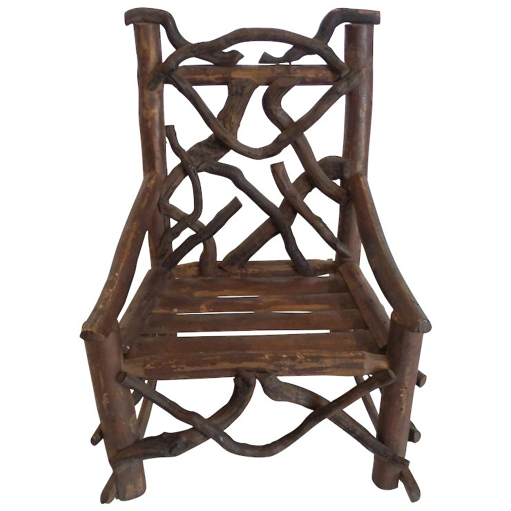Dollu0027s Country Primitive TWIG Rocking Chair ...