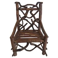 Doll's Country Primitive TWIG Rocking Chair (#4)