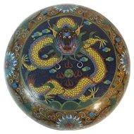 "19th C. Chinese Cloisonne 5.5"" Dragon Box"
