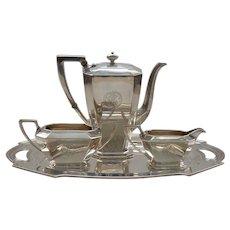 Durgin FAIRFAX Sterling Silver 4-Piece Coffee (Tea) Set
