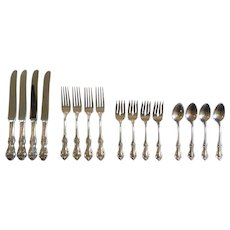 International JOAN OF ARC Sterling Silver 16-Piece Luncheon / Place Service Set
