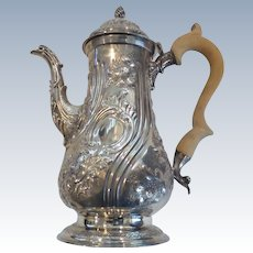 GEORGE III Sterling Silver Coffee Pot, London, c. 1777