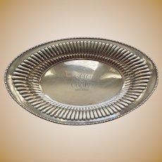 MERIDEN Sterling Silver Bread Tray #601