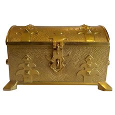 19th C. Russian Gilt Bronze Jewel Casket