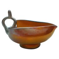 Steuben Gold AURENE Iridescent Art Glass Nappy / Dish, #2670, Carder Era