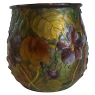 "19th C. French H. PATINE Limoges Enamel on Copper 3"" Vase (#5)"