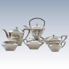 Durgin FAIRFAX Engraved Sterling Silver 6-Piece Coffee / Tea Service