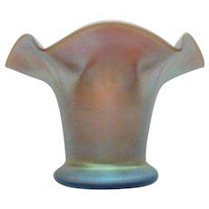 STEUBEN Carder Era Gold AURENE Art Glass Miniature Vase, #162, Signed