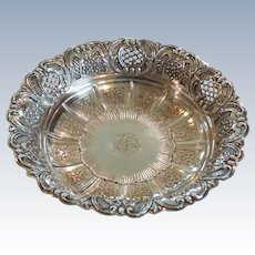 Continental .800 Silver Embossed Bowl, 390 grams