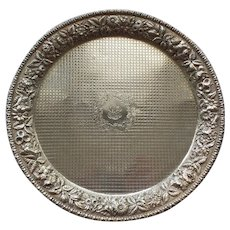 """Kirk REPOUSSE Sterling Silver 12"""" Footed Tray, c. 1896-1924"""