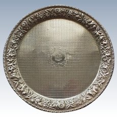 "Kirk REPOUSSE Sterling Silver 12"" Footed Tray, c. 1896-1924"