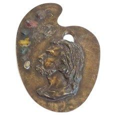 19th C. Jacques Gautier French Bronze Artist Palette Sculpture