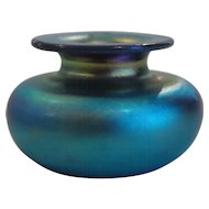Charles LOTTON Art Glass MINIATURE Vase, Signed, 1981