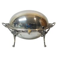 English Silver Plate Rolling Dome Breakfast / Buffet Server (#7)