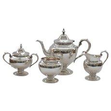 Gorham PURITAN Sterling Silver 4-Piece Tea Set, Mid-Century