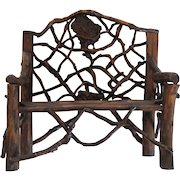 Doll's Country Primitive TWIG Settee (#2)