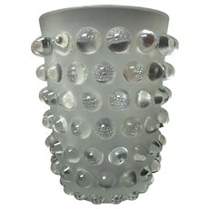 "LALIQUE Clear & Frosted Crystal MOSSI 8.25"" Vase"