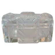 LALIQUE Crystal CORFOU Lidded Cigarette Box