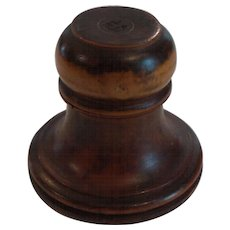 Watchmaker's MiniatureTREEN Wooden Wax Oil Pot, c. 1834