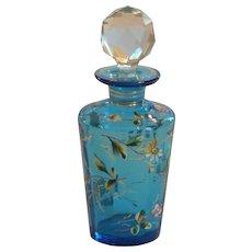 Signed MOSER Enameled Art Glass Perfume Bottle, c. 1885