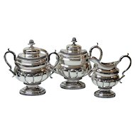 New York COIN Silver 3-Piece Tea Set, c. 1802-1829