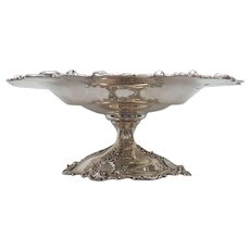 """Sterling Silver 10.5"""" Tazza Compote, Black, Starr & Frost, New York, c. 1890"""