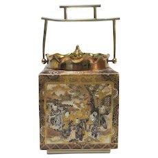 RARE Japanese Museum Quality MEIJI Period SATSUMA Cracker Jar