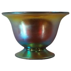 Tiffany Gold FAVRILE Iridescent Art Glass Salt Cellar #2