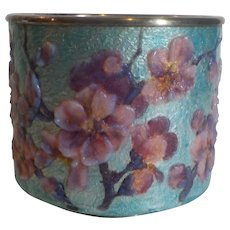 Rare R. SARLANDIE French Limoges Enamel Art Nouveau Vase