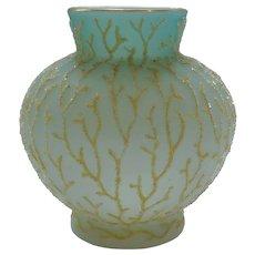 """Mt. Washington CORALENE 4.5"""" Vase, Seaweed Design, c. 1900"""