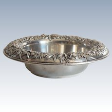 Kirk REPOUSSE Sterling Silver Fruit Bowl, # 219 AF