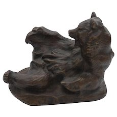 Playful Bear Bronze Sculpture after ANTOINE BAYRE (1796-1875), Early Recast