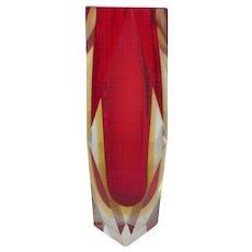 """Murano SOMMERSO Mid-Century Modern Art Glass 8.25"""" Vase"""