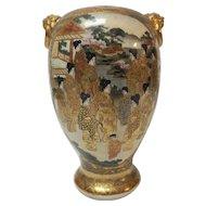 Japanese KYOTO SATSUMA Meiji Period Vase