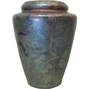 """Scarce Weller SICARD Art Pottery 7"""" Metallic Luster Vase, Signed, c. 1902-1907"""