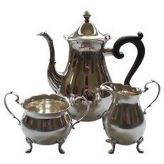 La Paglia Sterling Silver 3-Piece Coffee /Tea Set