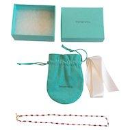 Tiffany & Co. 18 K Rhodolite Garnet Briolette Bead Necklace
