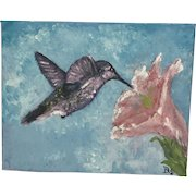 Original acrylics-Hummingbirds (Set of 2)