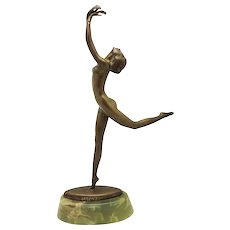 LORENZL Vienna Bronze Dancer Art Deco c1930