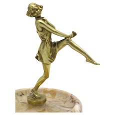 BRUNO ZACH 'Girl' Gilt Bronze Art Deco Figure