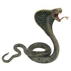 BERGMAN Large KING COBRA Cold Painted Vienna Bronze Snake