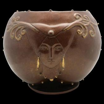 "ERTE Bronze Bowl ""Fruit of Life"" (Romain de Tirtoff)"