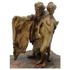 BERGMAN Slave Trader Mechanical Vienna Bronze Cold Painted